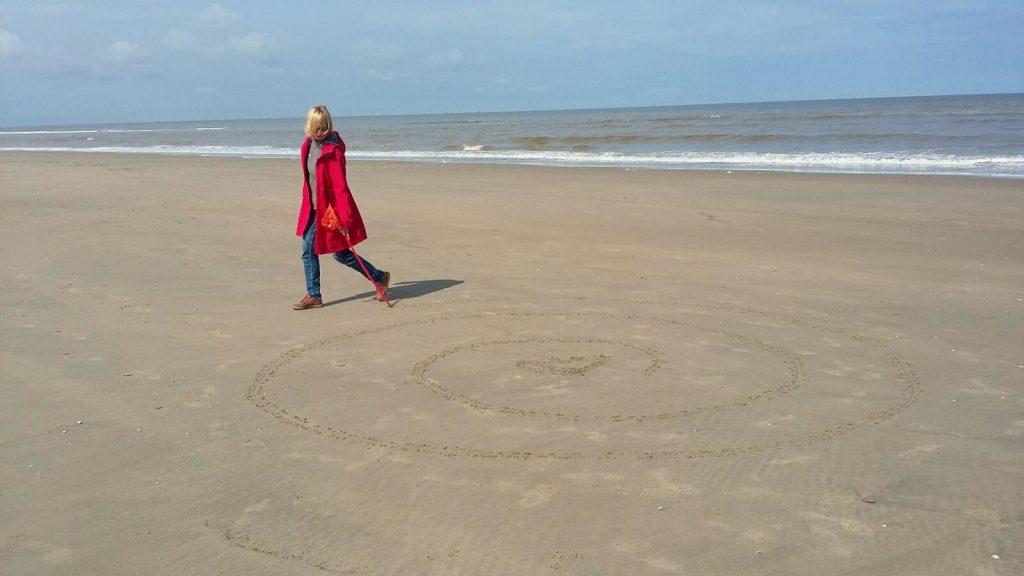 Midwinter Labyrint op het strand van Noordwijk, HSP