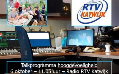 Radioprogramma over HSP café en hooggevoeligheid op 6 oktober