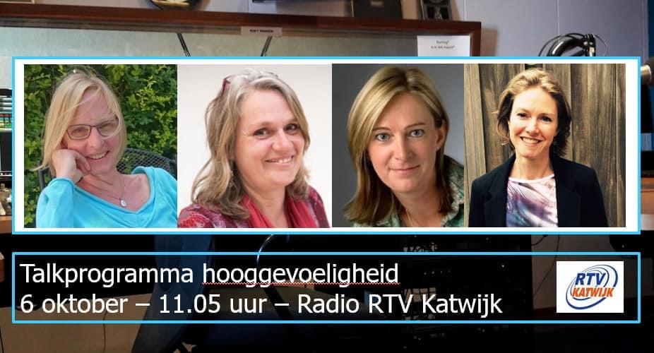 Experts vertellen op de radio over hooggevoeligheid