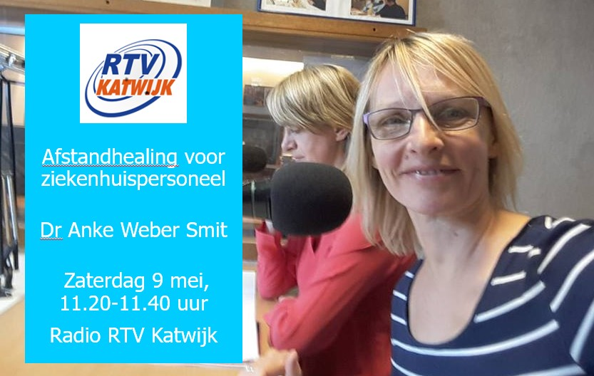 Interview met Radio RTV Katwijk over Healing voor ziekenhuispersoneel